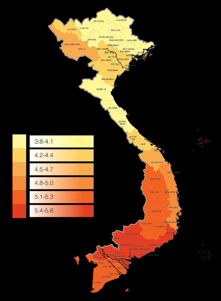Bản đồ bức xạ điện mặt trời