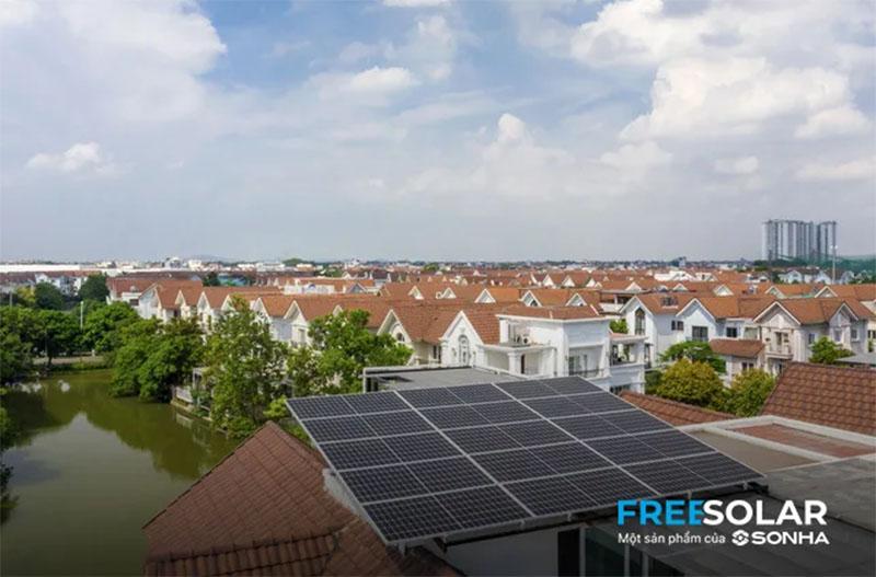 điện mặt trời mái nhà freesolar