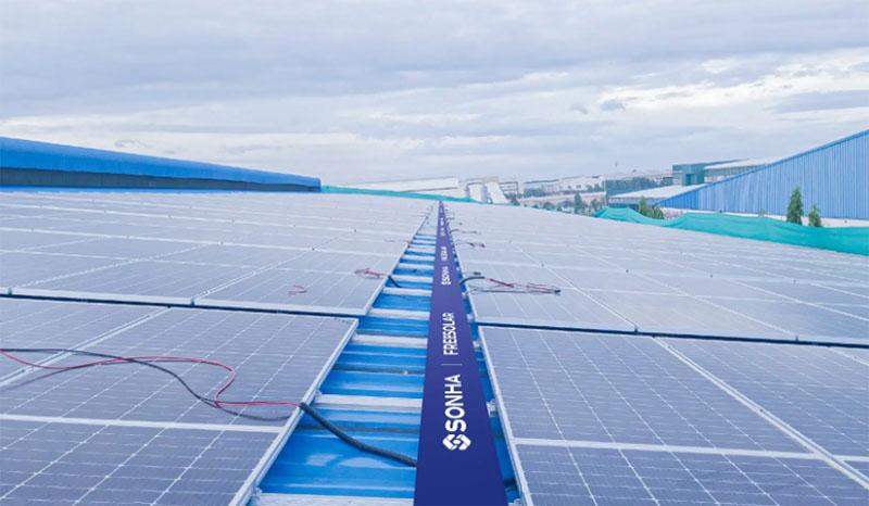 Dự án điện năng lượng mặt trời tại Nệm Kim Cương