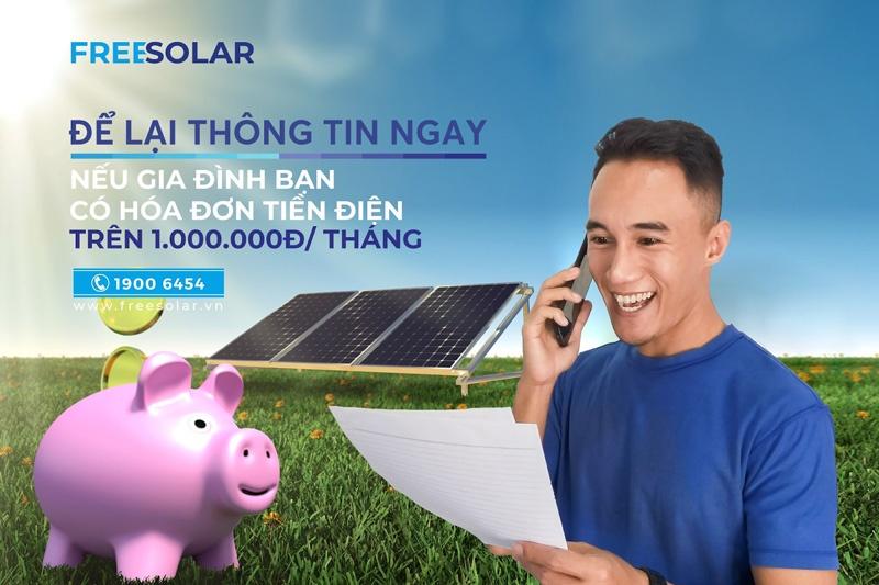 bước 1 trong quy trình lắp đặt điện mặt trời