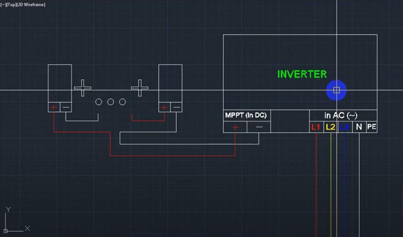 Đấu nối chuỗi tấm pin mặt trời với inverter
