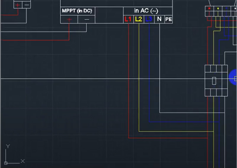 Đấu nối inverter với tủ điện và tủ điện với các tải tiêu thụ