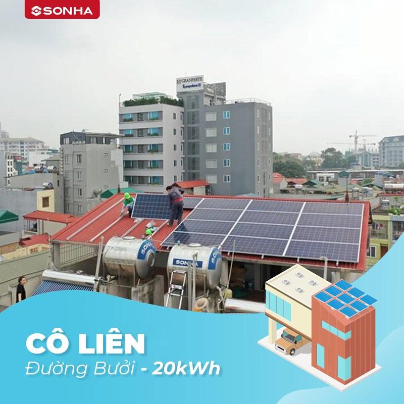 dự án lắp đặt điện mặt trời của freesolar