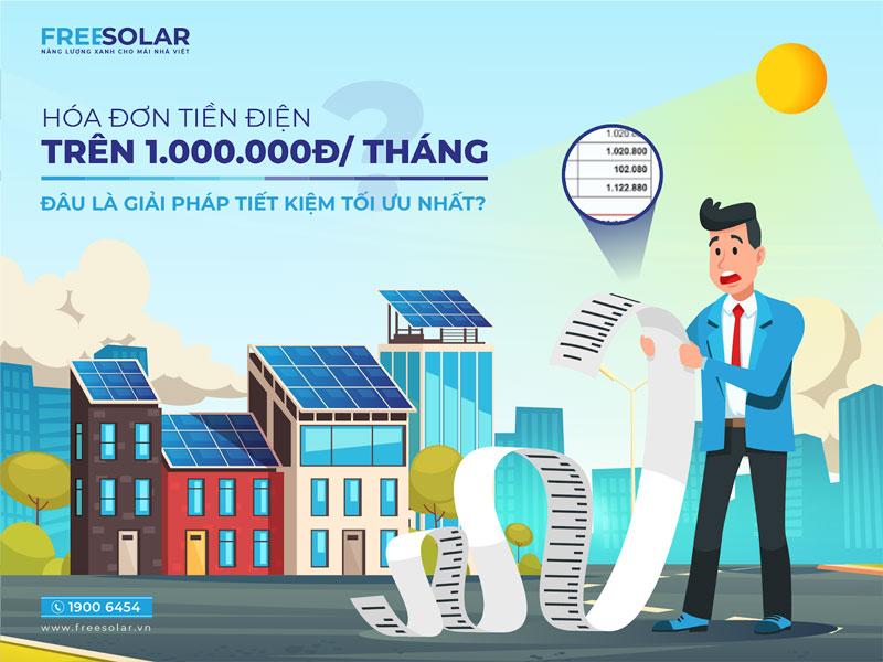 lắp đặt điện mặt trời theo hóa đơn tiền điện