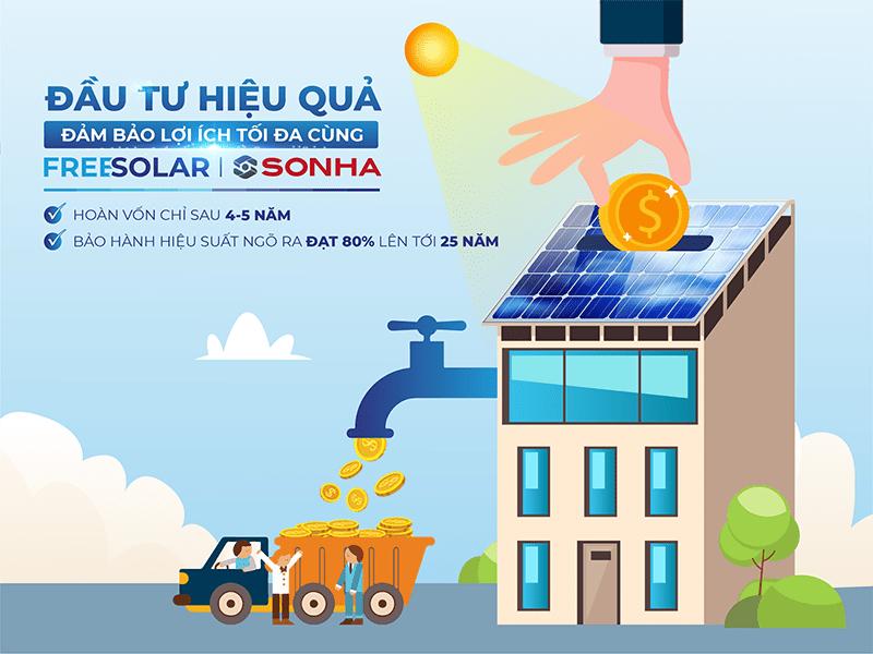 Lợi ích khi dùng điện mặt trời