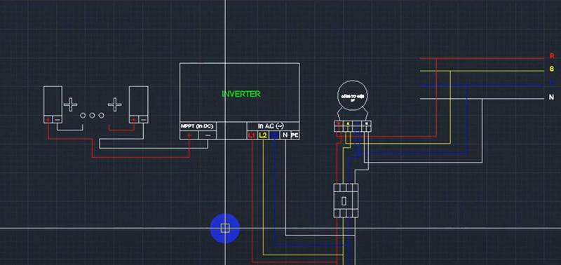 sơ đồ đấu nối điện mặt trời 3 pha