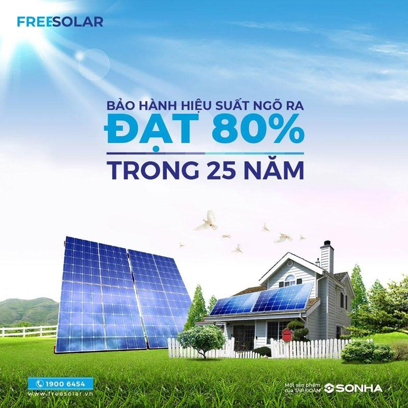 hệ thống điện mặt trời freesolar