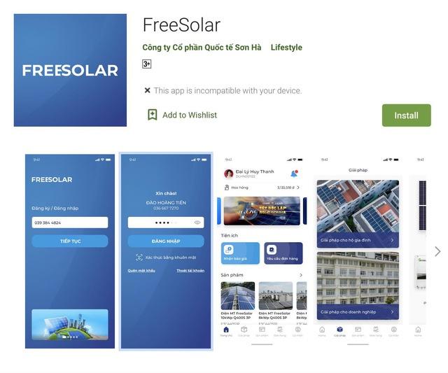 app freesolar