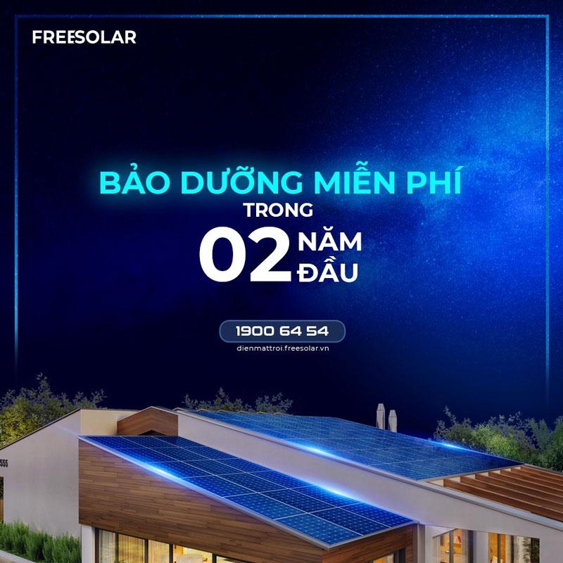 Freesolar bảo hành trong 2 năm