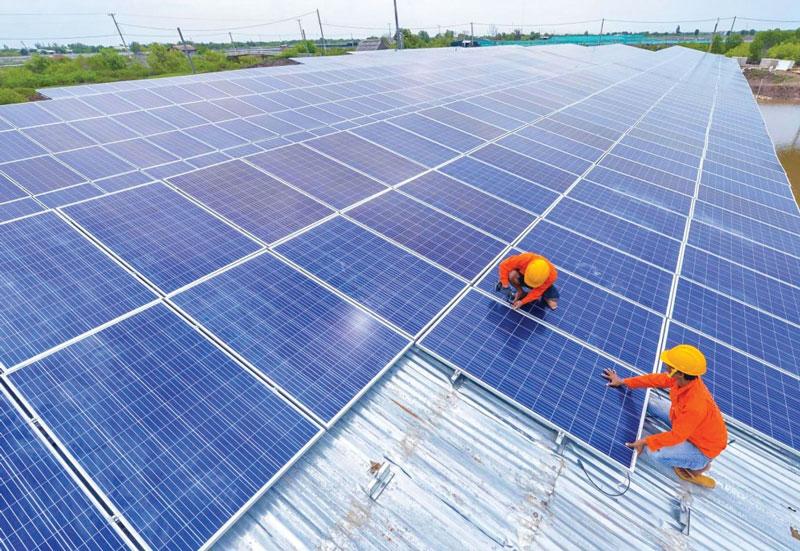 quy trình sản xuất pin năng lượng mặt trời