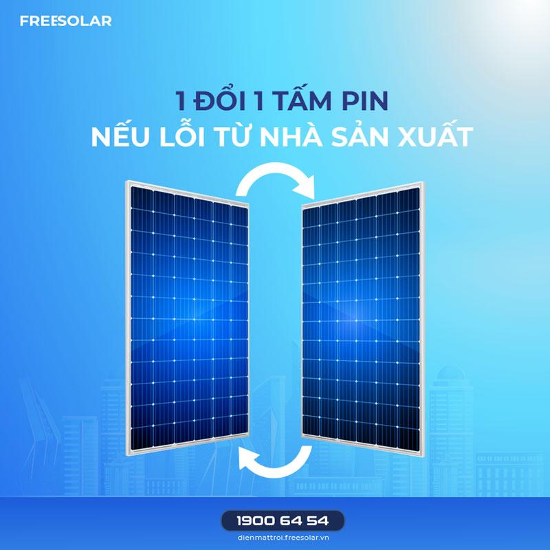 chế độ bảo hành pin mặt trời nhập khẩu